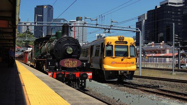 Brisbane, Train, Travel, Transportation, Transport