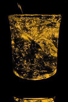 Abstract, Glass, Yellow, Decoration, Macro, Detail
