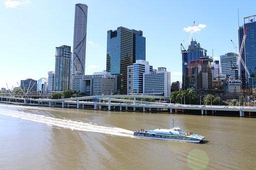 River, Brisbane, Queensland, Australia, City, Bridge