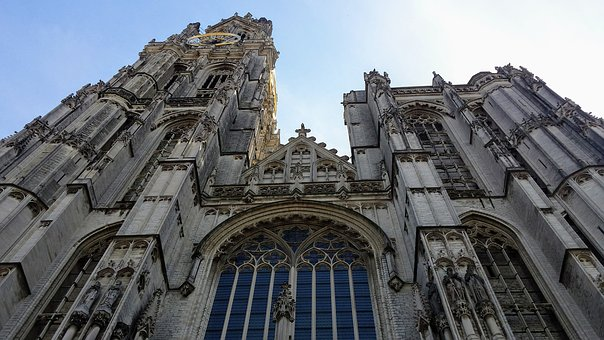 Cathedral, Antwerp, Building, Architecture