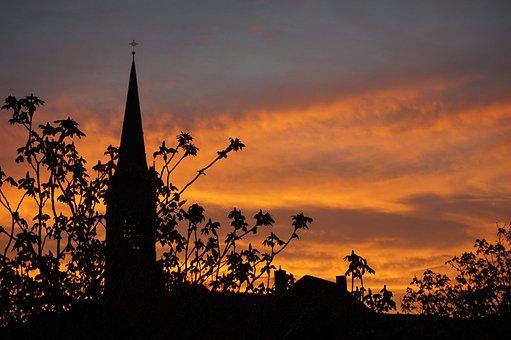 Sunrise, Church, Christianity, Mood, Sky