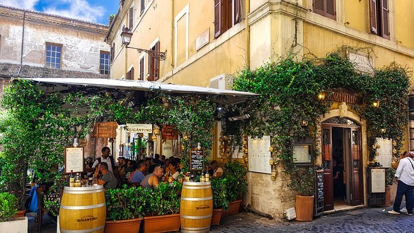 Rome, Italy, Cafe, Restaurant, City, Life, Culture