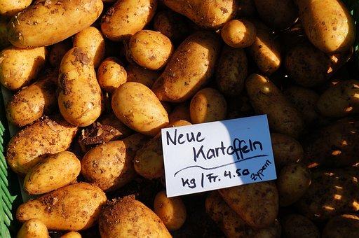 Potatoes, Agriculture, Market, Vegetables, Eat, Bauer