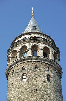 Galata Tower, Tower, Perspective, Architecture, Sky