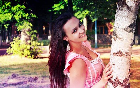 Girl, Photoshoot, Smile, Hair, Beautiful, Stroll