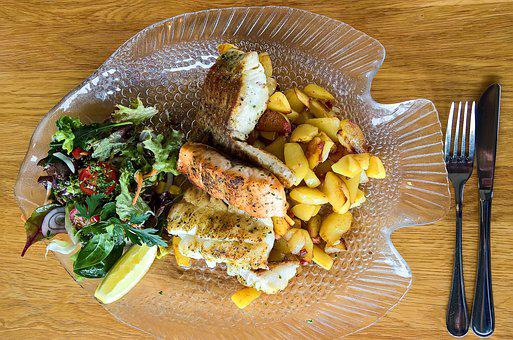 Fish Plate, Cable Outer Diameter Can, Salmon, Halibut