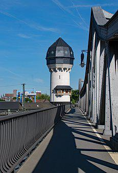 Darmstadt, Hesse, Germany, Central Station, Water Tower