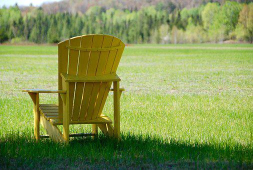 Chair, Muskoka, Lounge, Nature, Outdoors, Relax