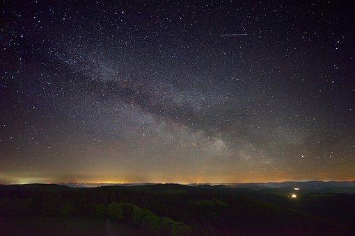Milky Way, Night, Star, Starry Sky, Space, Night Sky