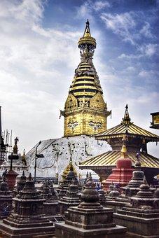 Monkeytemple, Soyambhu, Nepal, Stupa, Monkey, Buddhist