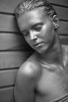 Model, Paint, Black And White, Portrait, Women's