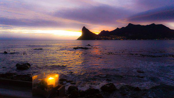 Hout Bay, Sunset, Cape Town, South Africa, Sea