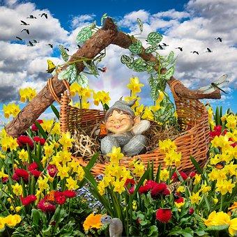 Good Night, Sleep, Dwarf, Concerns, Cozy, Rest, Flowers
