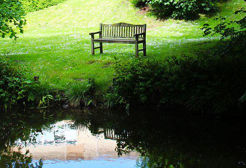 Seat, Pond, Alone, Nature, Water, Park, Summer, Outdoor