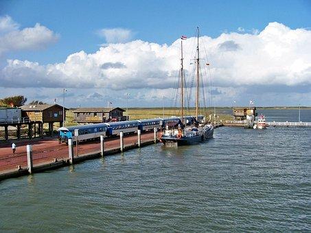 Borkum, Train, Ship, Port Motifs