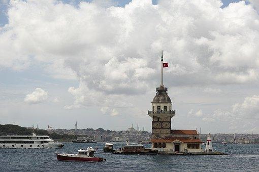 Maiden's Tower Kiz Kulesi, Istanbul, Turkey