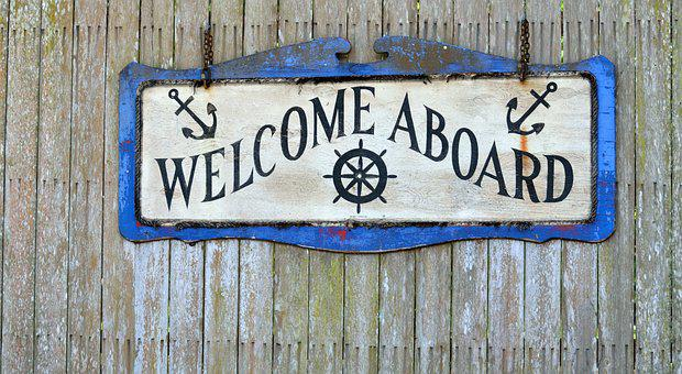 Welcome Aboard, Sign, Greeting, Aboard, Welcome