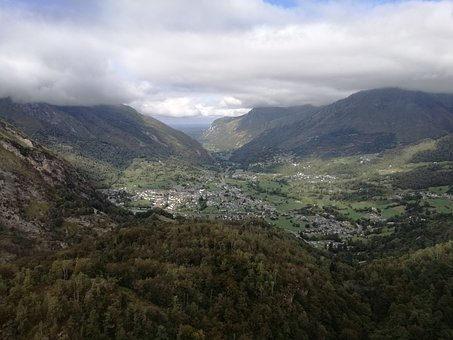 Landscape, View, Mountain, Valley, Clouds, Aerial View