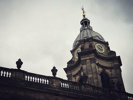 Cathedral, Clock, Architecture, Church, Landmark, City