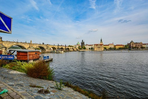 Prague, Charles, Bridge, Czech, Travel, Europe, Boat