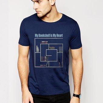 T-shirt Design, Book-self, Boy
