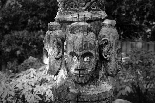 Mask, Face, Carving, Wood, Figure, Wood Carving