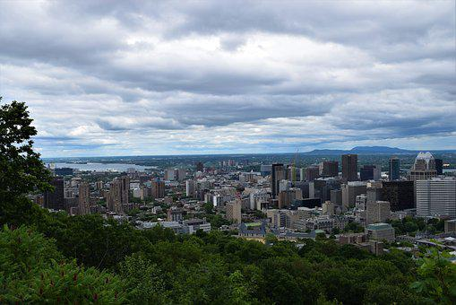 Skyline, Downtown, Cityscape, Montreal, City