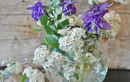 Flowers, Flower Vase, Chives, Still Life, Spring, Close