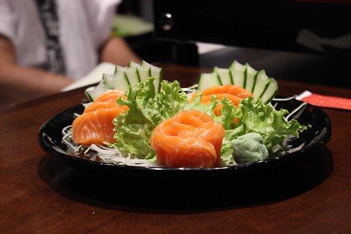 Salmon, Japanese Food, Gastronomy