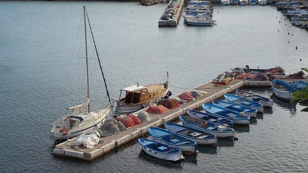 Port, Boats, Puglia, Jetty, Italy, Holiday, Sea