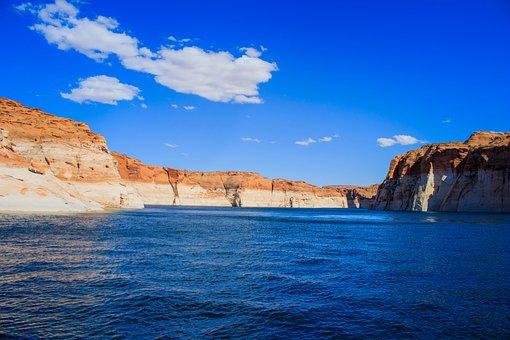 Lake Powell, Arizona, Utah, Page, Landscape, Water