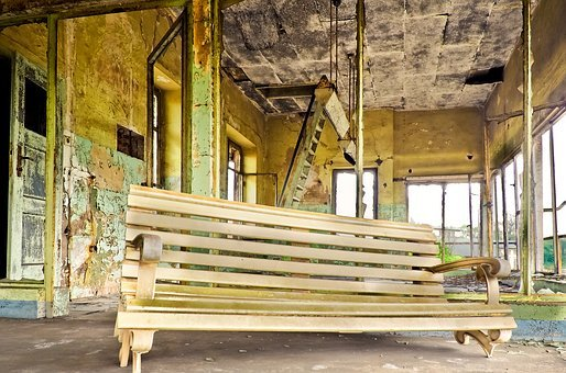 Lost Places, Railway Station, Door, Door Handle, Ruin
