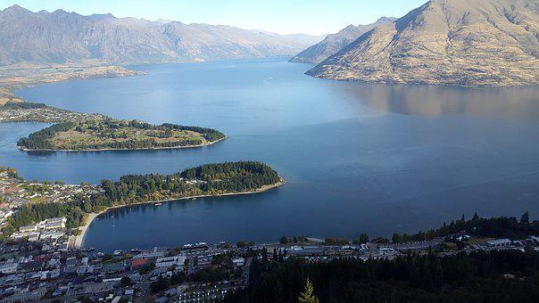 Queenstown, Nz, Lake, Nature, Landscape, Mountain