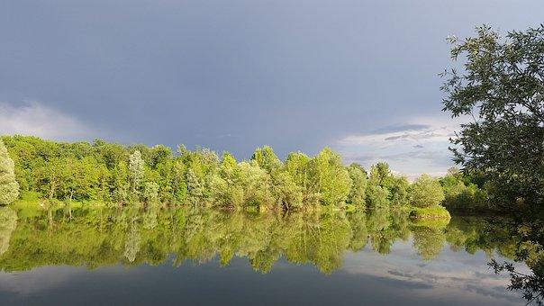 Lake, Spring, Water, Landscape, Nature, Sky, Summer