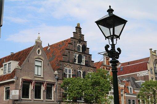 Alkmaar, Holland, Lantern, Gabled Houses, Netherlands