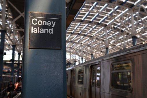 Coney Island, Subway, Mrt, Sation, New York, Ny