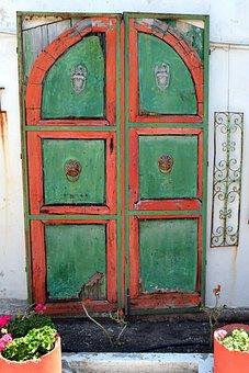 Door, Input, Wooden Door, Weathered, Old