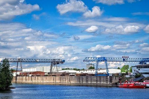 Port, Harbour Cranes, Inner Harbour, Crane