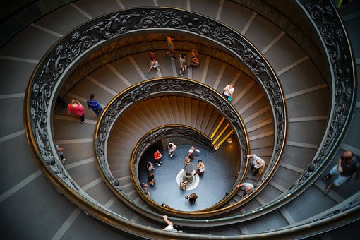 The Vatican, Museum, Stairs