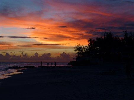 Sunset, Sea, Beach, Ocean, Tropical