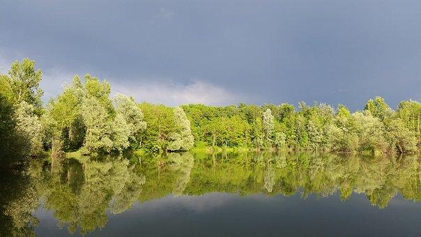 Lake, Spring, Water, Landscape, Nature, Sky, Forest