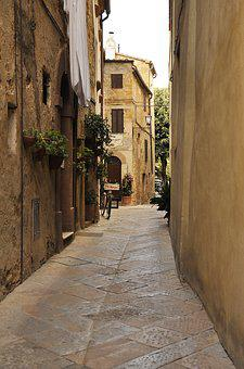 Tuscany, Italy, Street, Architecture, Monuments, Old
