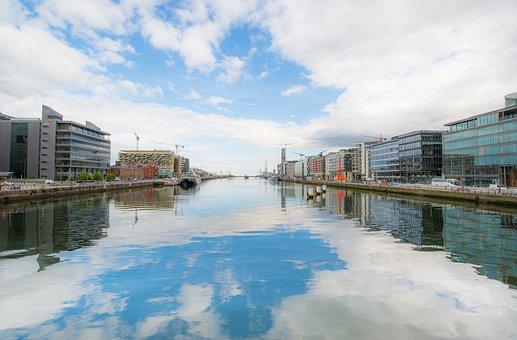Dublin, Ireland, Liffey, River, Architecture, Landmark