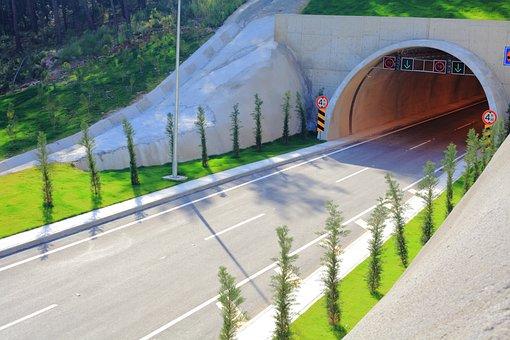 Tunnel, Road, Travel, Asphalt, Highway, City center