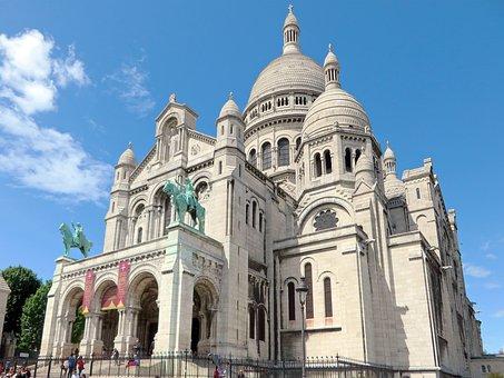 Paris, Sacred Heart, Dome, Basilica, Montmartre
