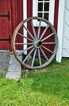 Wagon Wheel, Civil War, Battle, Cannon, Gun, Old