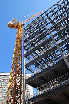 Crane, Construction, Site, Industry, Work, Building