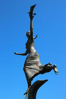 Statue, Sculpture, Female, Woman, Goddess, Mythology