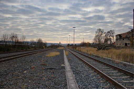 Gleise, Seemed Bedded, Railroad Tracks, Railway