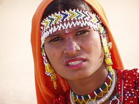Indian Woman, Desert, Woman